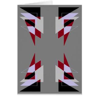 Trianglar för TRE 4 görar sammandrag röd vit för Hälsningskort