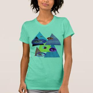 Trianglar och ögon tee shirts