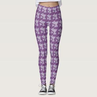 Trianglar på violett härlig damasker leggings