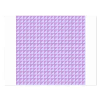 Trianglar - wisteria- och bleklavendel vykort