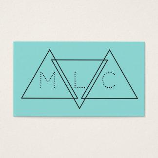 Triangulär Minimalist geometrisk modern initialer Visitkort