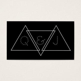 Triangulär Minimalist geometrisk modern Monogram Visitkort