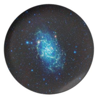 Triangulum galax tallrik