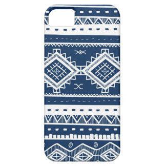 Tribal Aztec Lace Pattern (navy blue) iPhone 5 Covers