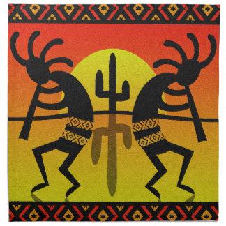 Triball för SouthwestKokopelli kaktus design Tygservett