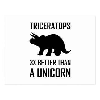 Triceratops som är bättre än Unicorn Vykort