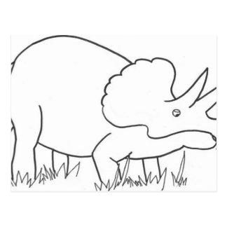Triceratops Vykort
