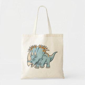 Triceratopsdinosauren hänger lös tygkasse