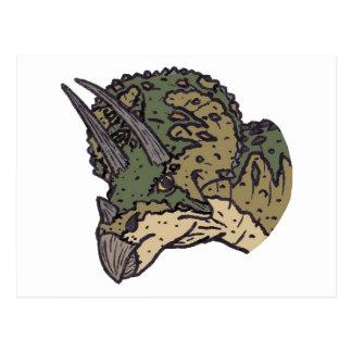 Triceratopshuvud Vykort
