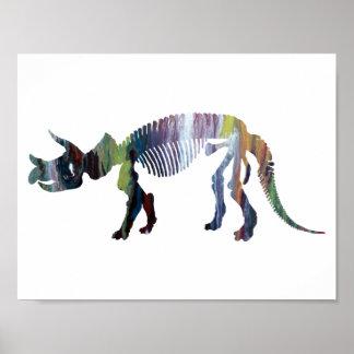 Triceratopsprorsusskelett Poster
