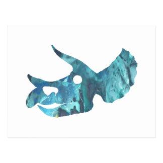 Triceratopsskallekonst Vykort