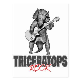 Triceratopsstenar Vykort