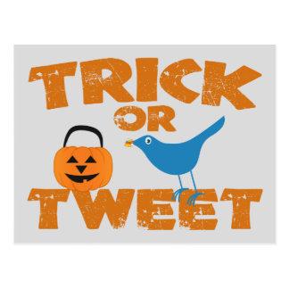 Trick eller Tweet Vykort