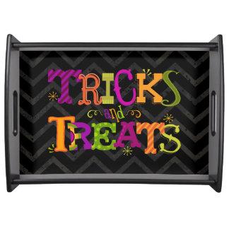 Trick och för Halloween för fester nyckfullt Frukostbricka
