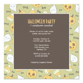 Trickfestbu! | halloween festinbjudningar fyrkantigt 13,3 cm inbjudningskort