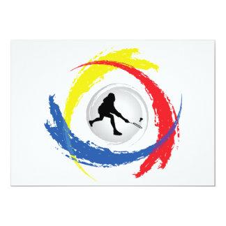 Tricolor Emblem för Badminton 12,7 X 17,8 Cm Inbjudningskort