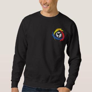 Tricolor Emblem för Karate Lång Ärmad Tröja