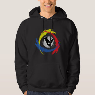 Tricolor Emblem för Snowboarding Sweatshirt