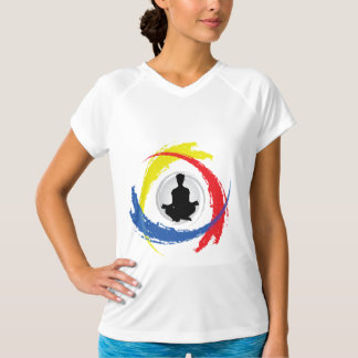 Tricolor Emblem för Yoga Tröjor