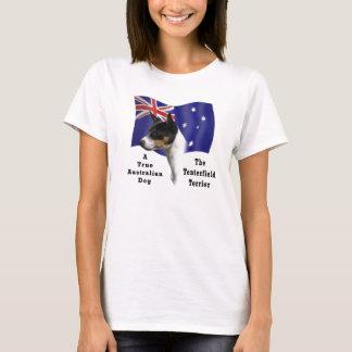 (Tricolour) Tenterfield Terrier med flagga T-shirt