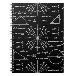 Trig & trianglar anteckningsbok med spiral