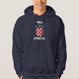 Trilj Kroatien med vapenskölden Tröja Med Luva