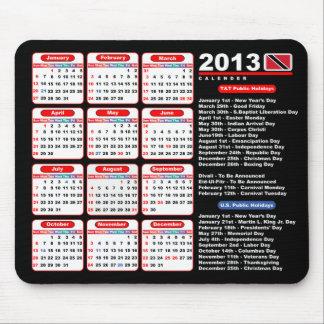Trinidad och Tobago 2013 kalender Mus Mattor