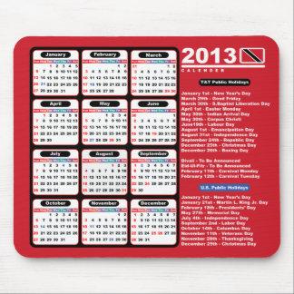 Trinidad och Tobago 2013 kalender Musmatta