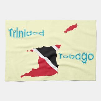 Trinidad och Tobago flaggakarta Kökshandduk