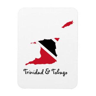 Trinidad och Tobago flaggakarta Magnet