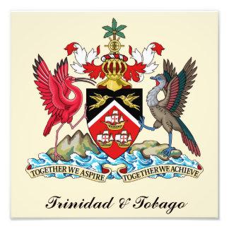 Trinidad och Tobago vapensköld Fototryck