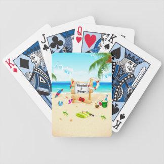 Trinidad & Tobago Maracas strand Spelkort
