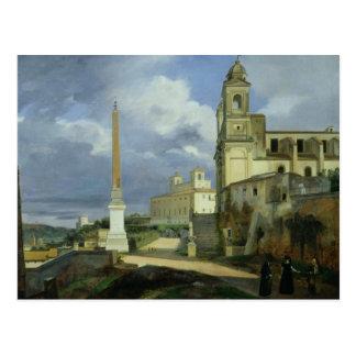 Trinita dei Monti och villan Medici Vykort