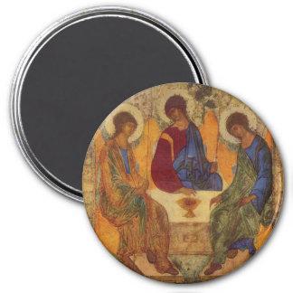 Trinityänglar på Mamre Magnet Rund 7.6 Cm