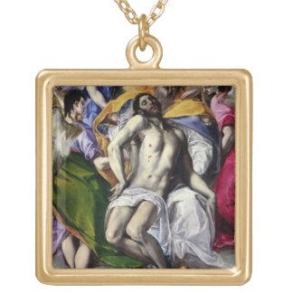 Trinityen, 1577-79 (olja på kanfas) guldpläterat halsband