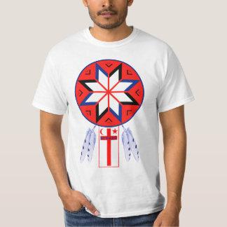 Tripartite Mi'Kmaq forasymbol och flagga Tshirts