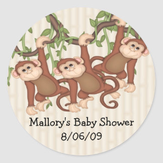 Tripleten härmar baby shower runt klistermärke