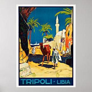 Tripoli Libia Libyen afrikavintage resor Poster