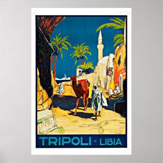 Tripoli Libyen vintage resor Poster