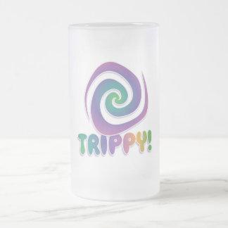 trippy! Den psychadellic Groovy 70-tal virvlar Frostat Ölglas