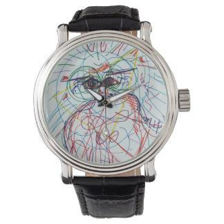 Trippy färgglad klockavintagelook armbandsur