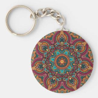 """Trippy Mandala 2,25"""" grundläggande knäppas Rund Nyckelring"""