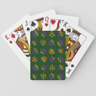 Trippy snöflingor spel kort