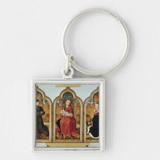 Triptych av Jean de Witte, 1473 Fyrkantig Silverfärgad Nyckelring