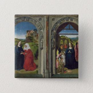 Triptychvisning annunciationen standard kanpp fyrkantig 5.1 cm
