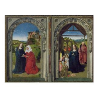 Triptychvisning annunciationen vykort