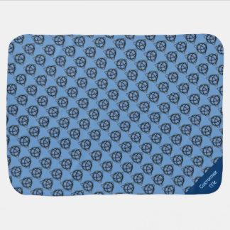Triquetra (blått) bebisfilt