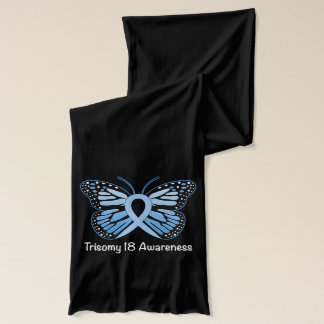 Trisomy 18 med fjärilsmedvetenhetbandet sjal