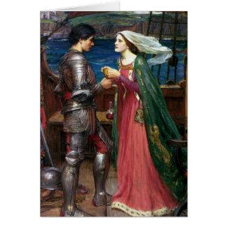 Tristan och Isolde hälsningkort Hälsningskort