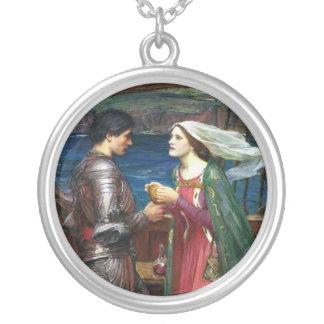 Tristan och Isolde Neclace Silverpläterat Halsband